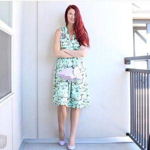 Lindy Bop Dinosaur Print Dress